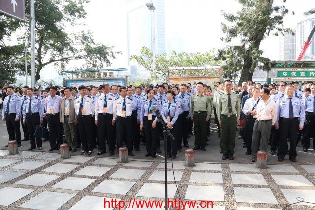17日开幕式福州公安、武警及群众参见开幕式